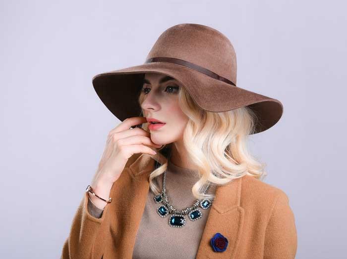 winter women fedora hat wool