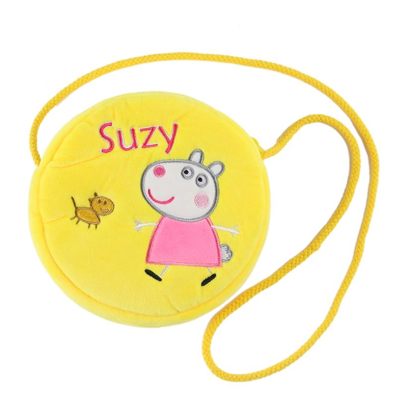 9 Style Genuine New Original Peppa Pig George Pig Susie Purse Plush Toy Kawaii Kindergarten Bag Backpack Wallet Money School Bag 3