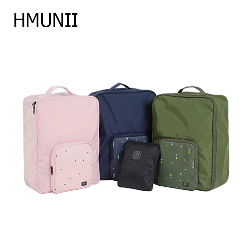Travel Multi-function Folding Bag Portable Double Shoulder Travel Bag Can Be Set Trolley Luggage Suitcase Travel Accessories image