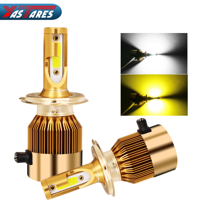 Supply R8 Brand Z5 Tricolor Car Led Headlight Bulbs Yellow White H1 H4 H13 9004 9007 50w 5800lm 3000k 4300k 6000k Good Quality 3-colors Back To Search Resultsautomobiles & Motorcycles Car Headlight Bulbs(led)