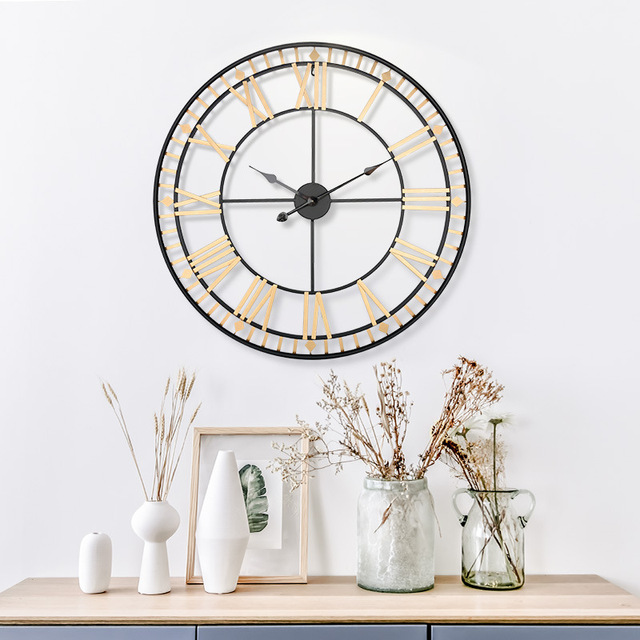80 Roman créatif rétro Gear 3D horloge maison horloge murale Design moderne salon décoration Quartz horloge grande horloge sur le mur
