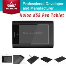 "Huion K58 New 8"" x 5″ Digital Graphic Tablets Painting Tablet Boards USB Professional Art Graphics Drawing Tablet Pad Black"
