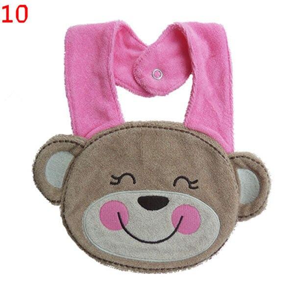 New Colorful Animal Cotton Baby Bibs Burp Cloths Waterproof Bandana Bibs