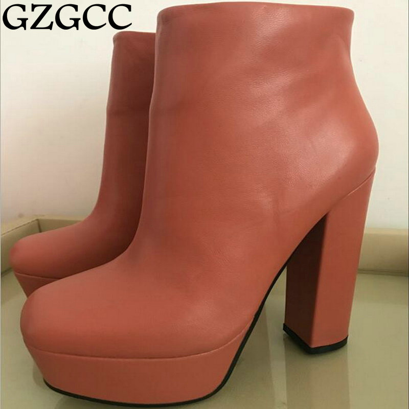 New GZGCC Spring and Autumn Ankle Boots For Women Fashion ladies Sexy Boots Winter Shoes Platform Boots shoes woman