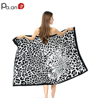 New Pattern Microfiber Fabric big size Beach towel super absorbent high quality Adults towel Rectangle Women Beach towel Hot