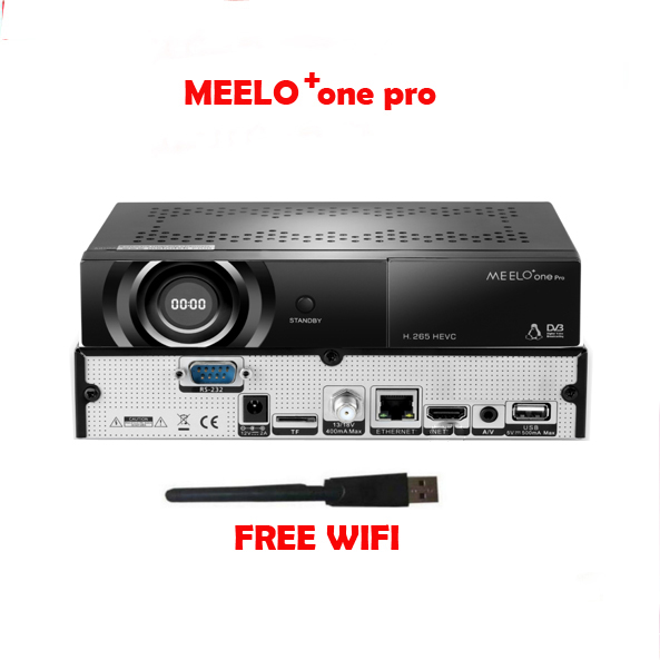 MEELO+One Pro Enigma2 Linux Satellite Receiver 1080P FULL HD DVB-S2 Set Top Box AVS+IPTV Ccam Newam H.265 HEVC MEELO ONE Plus