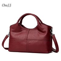 Chu JJ High Quality Women S Genuine Leather Handbags Patchwork Shoulder CrossBody Bags Fashion Soft Leather