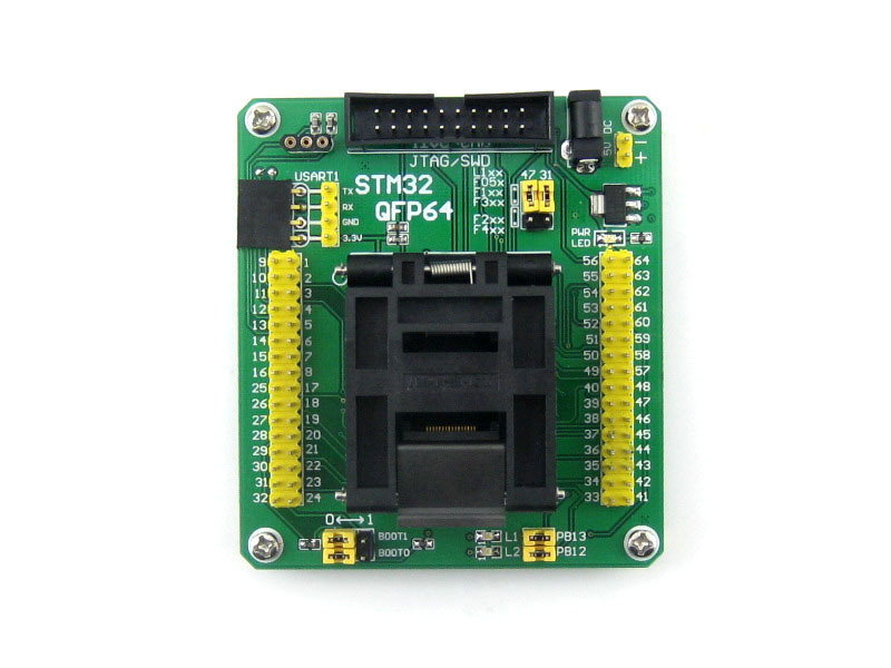 Parts STM32 Programming Adapter Test Socket for LQFP64 QFP64 QFP Package 0.5mm Pitch =STM32-QFP64 ucos private soic28 programming block transfer zy320a burning test socket adapter