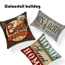 Diseños Sweet Home Shabby Chic cojines con diseño de madera cubiertas Vintage Nostalgia placa colgante almohada sofá asiento 18 pulgadas Lino hogar Almofada
