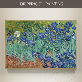 Famous Artwork Irises Vincent Van Gogh Oil Painting Impressionist Irises Oil Painting Reproduction Van Gogh  Irises Oil Painting