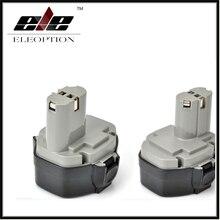 Eleoption 2×14.4 V 3000 mAh 3.0AH batería para Makita 1420 1422 1433 1434 1435F 193158-3 14.4 V herramienta 3.0AH ni-mh