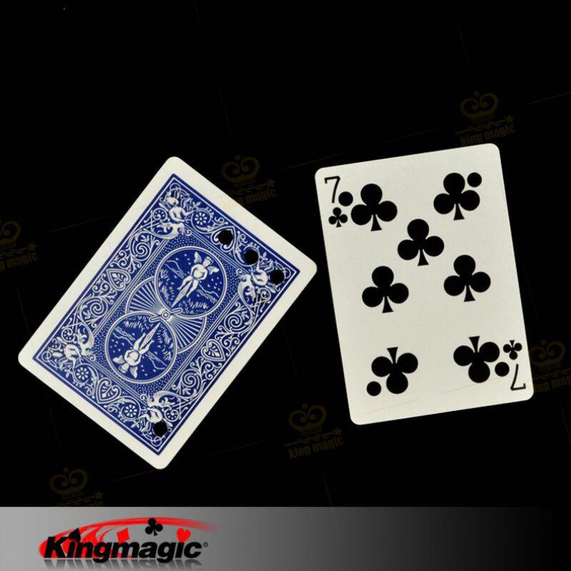 Kingmagic Matrix Card Matrix Hole Close Up Magic Tricks Magia Props Free Shipping