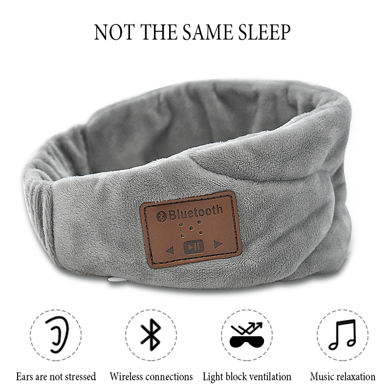Music Natural Night Sleep Eye Mask Soft Shade Cover Blindfold Travel Relax EyePatch Sleeping Aid EyeShade Bandage Soft Eye Mask cute animal eye cover sleeping mask eyepatch bandage blindfold christmas deer winter cartoon nap eye shade plush sleeping mask