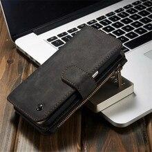 Роскошные Чехлы для телефона из натуральной кожи для samsung Galaxy S6 Edge Plus S7 Edge Note 5, чехол с застежкой-молнией чехол-Бумажник для телефона с отделениями для карт Чехлы для задней панели