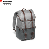 Manfrotto LF WN BP Professional Camera Backpack Genuine Leather Nylon Camera Bag Portable DSLR Photography Accessories Carry Bag