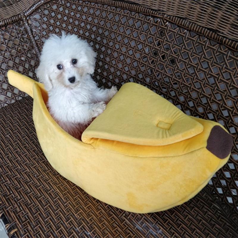 Прекрасный творческий в форме банана собака/кошка дом мягкий теплый спать в питомнике Кровать Дом палатка товар для животных собак/Аксессу...