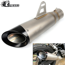 Motorcycle Exhaust Laser Pipe Muffler Inlet 36-51mm stainless steel Mufflers For YAMAHA T-MAX 530 ABS YZF R