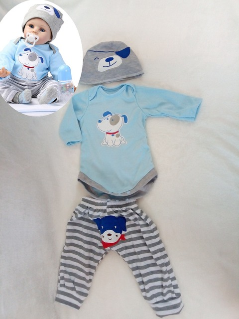 hot-selling silicone reborn dolls boys clothes for 50 - 55 cm Vinyl baby toys boy doll for girls boy children's DIY Accessories