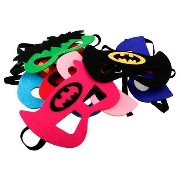 15 Teile/los Superhero Halbe Gesicht Msak Maskerade Eye Maske Baby Kinder Kinder Kostüm Masken Geburtstag Geschenk Geschenke Party Decor Liefert