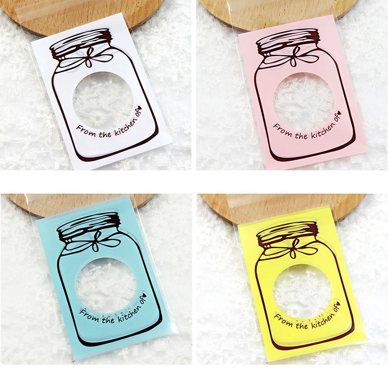 10 13cm Plastic Bags Wedding Decoration Candy Cookie Kitchen Food Packaging Pouches Christmas Festival Party Supplies