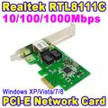 Novo Controlador de Rede Gigabit Ethernet PCI Express PCI-E Card 1000 Base-T 10/100/1000 Mbps RJ45 RJ-45 LAN Adapter Converter