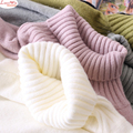 Women High Color Raglan Shoulder Casual Cotton Sweaters Solid White Loose Soft Bottoming Knitwear Warm Pullovers