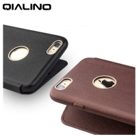 QIALINO 100% Genuine Leather Sheepskin Case for Apple iPhone 6 6s 6plus 4.7/5.5 Ultra Thin Slim Business Flip Phone Cover Bags
