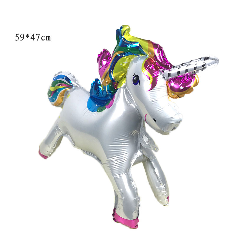 10PSC /59 * 47cm Stereo Unicorn Party Balloons Inflatable Balloons Balloons Birthday Party Decorations Children's Toys Party decoration