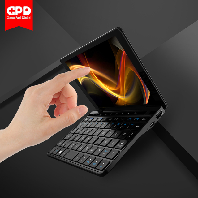 GPD Pocket 2 Amber 7 Inch Touch Screen Mini PC Pocket Laptop UMPC ultrabook Intel Celeron CPU 3965Y Windows 10 System 8GB/128GB