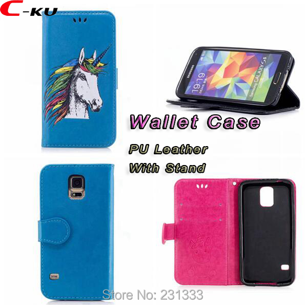 C-ku <font><b>Unicorn</b></font> Wallet PU Leather Case Pouch For Samsung Galaxy S5 S8 PLUS S7 EDGE S6 NOTE 8 J710 J510 TPU Stand ID Card Cover 1PCS