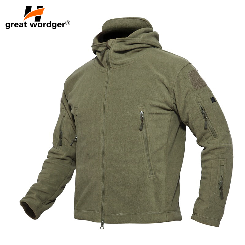 Outdoor Winter Thicken Soft Shell Military Fleece Jackets Men Hooded Windproof Tactical Outerwear Coat Warm Hiking Jacket Clothe цена 2017