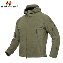 Outdoor Winter Thicken Soft Shell Military Fleece Jackets Men Hooded Windproof Tactical Outerwear Coat Warm Hiking Jacket Clothe цены онлайн
