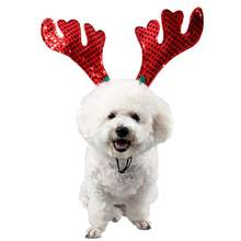 For New Year Pet Hair Band Christmas Elk Head Hoop Hair Accessories for Cats Dogs Xmas Decoration for Pets Good Quality(China)