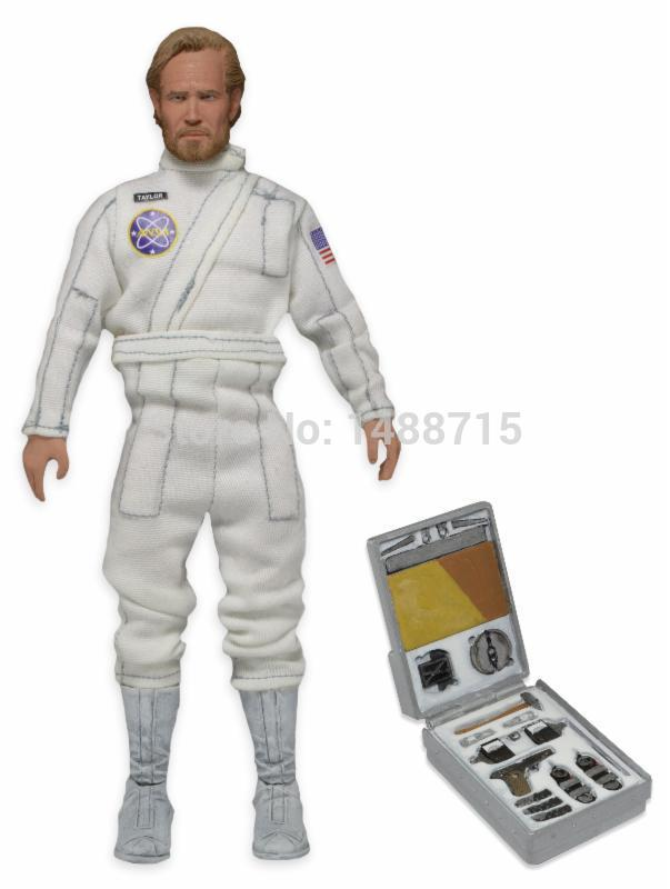 Hot George Taylor Charlton Heston Space Suit Classic 1968 Sci-fi Film Planet Of the Apes NECA 20CM Figure Toys New Box steven heston l  the heston model and