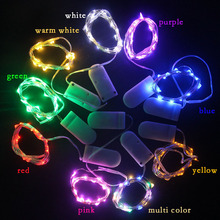 2M 20LED Copper Wire Fairy String Lights CR2032 Battery Operated With ON / OFF Switch for Outdoor Garden Christmas Decoration