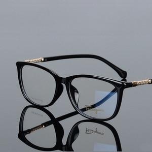 Image 4 - Breedte 138 Full frame plaat elastische benen mode mannen vrouwen bijziendheid optische glazen frames lezen glas 008 oculos de grau brillen