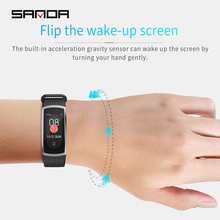 SANDA smart watch mens and womens Android waterproof heart rate tracker blood pressure sports bracelet