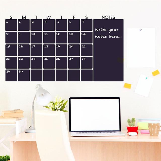 Chalkboard Calendar Wall Sticker