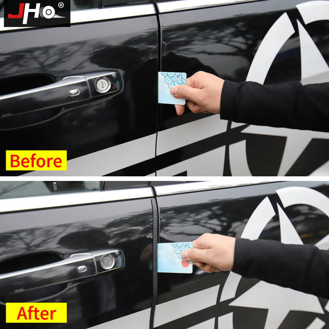 JHO 8M SUV Car 4-Door Edge Guards Anti-Scratch Strips – NO Glue or Double Tape Needed Universal Styling Protection Accessories