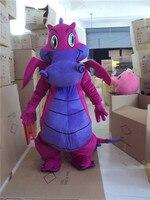 Рекламы карнавальный Розовый огненный дракон, талисман костюм костюмы Косплэй Вечерние игры платье взрослых Размеры Хэллоуин Праздник Нов