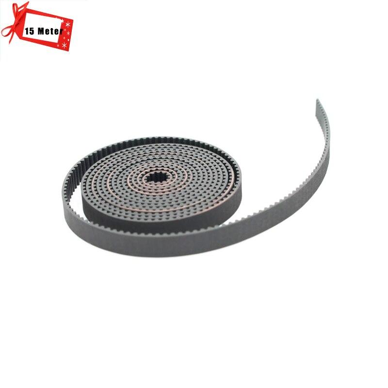 15 Metre 3d yazıcı kemer açık zamanlama Kauçuk 2GT zamanlama genişliği 6mm/10mm 3D Yazıcı parçası için