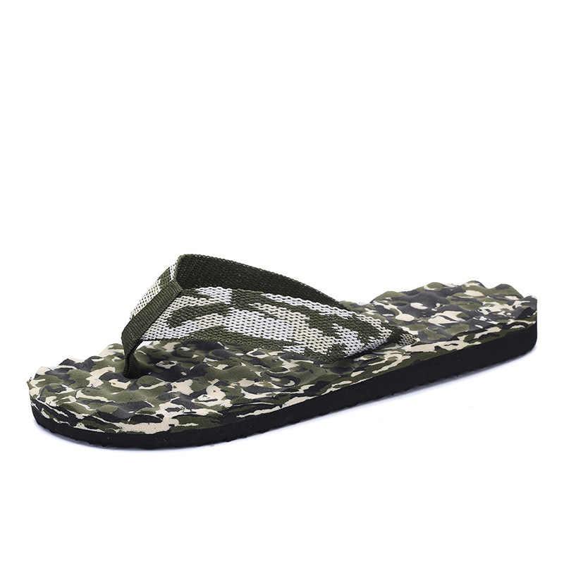 EM UR MÃO Moda Verão Massagem Chinelos Flip Flops Lazer Estilo Dos Homens Respirável Não-deslizamento Sapatos de Praia