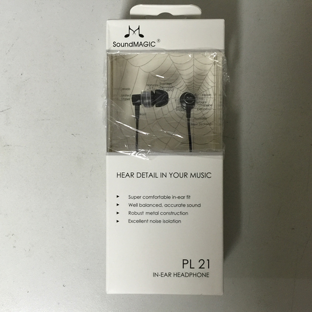 Original SoundMAGIC PL21 In-Ear Noise Isolating Earphones earbuds for Mobile cell phone tablet notebook PC MP3