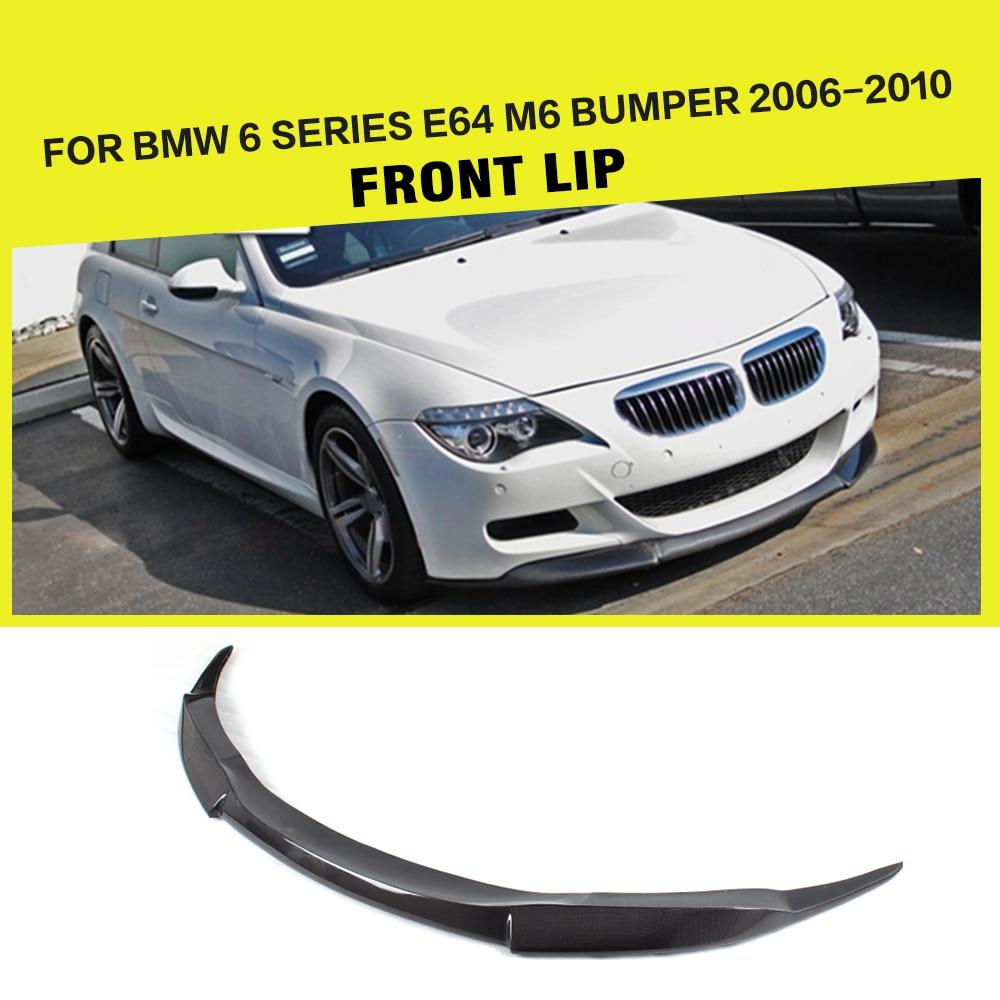 Car Styling Carbon Fiber Front Lip Spoiler Bumper Guard Chin Protector Apron for BMW 6 Series E64 M6 Bumper 2006 2010