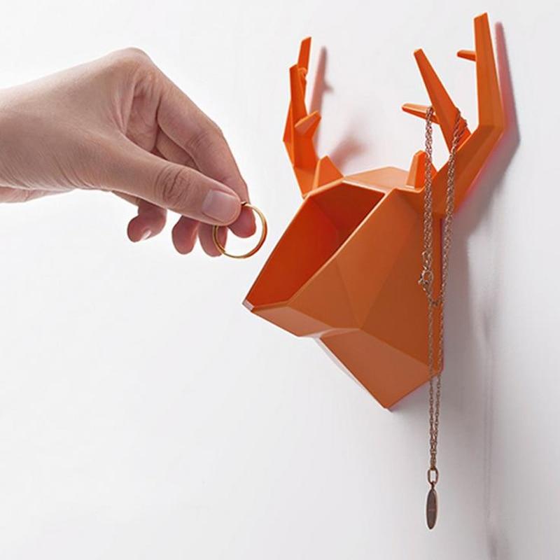 Doreen Box 16.5x15.6x7.3cm Creative Antlers Design Storage Holders Racks Kitchen Bathroom Bedroom Shelves Sundries Jewelry Rack Полка