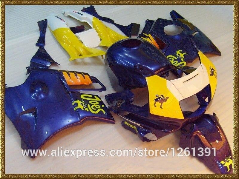Обтекатель части для HONDA CBR600 F2 91 92 93 94 CBR600F2 1991 1992 1993 1994 CBR 600 F2 мотоцикл обтекатель наборы, цвет: синий, желтый, белый