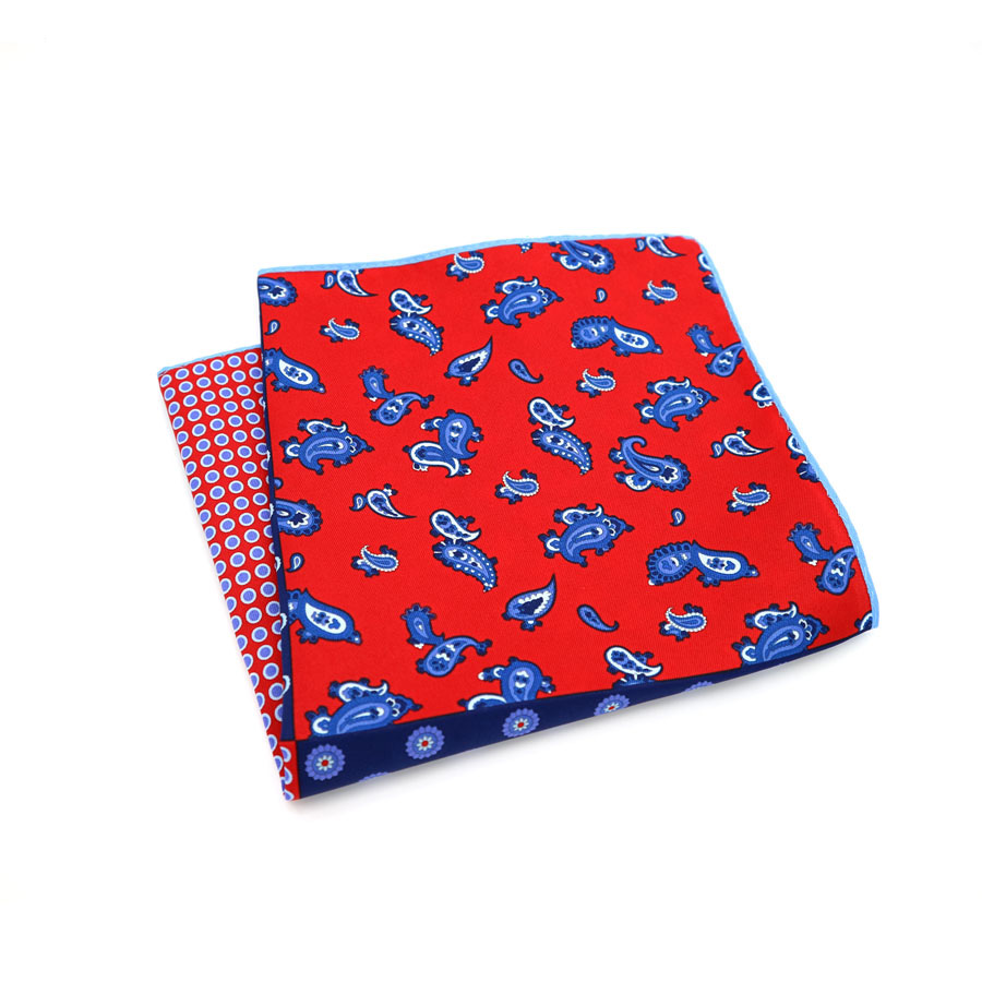 Lot 10 PCS 34 x 34 CM Man Paisley Flower Dot Pocket Square Big Size Handkerchief