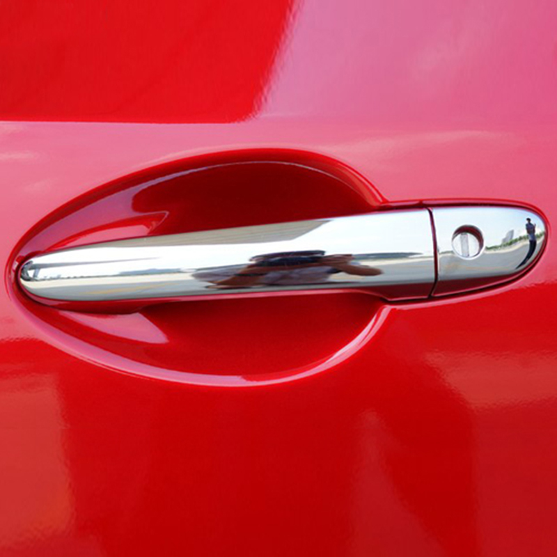 For Mazda 2 3 6 Cx-5 2012 2013 2014 2015 2016 2017 Chrome Side Door Handle Cover Catch Trim Overlay Molding Garnish M2 M3 M6 Cx5
