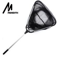 MEREDITH 90cm Folding Fishing Net Retractable Telescoping Aluminum Alloy Pole Super Large Folding Landing Net