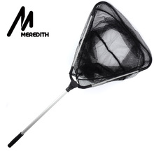 Big discount MEREDITH 90cm Folding Fishing Net Retractable Telescoping Aluminum Alloy Pole Super Large Folding Landing Net